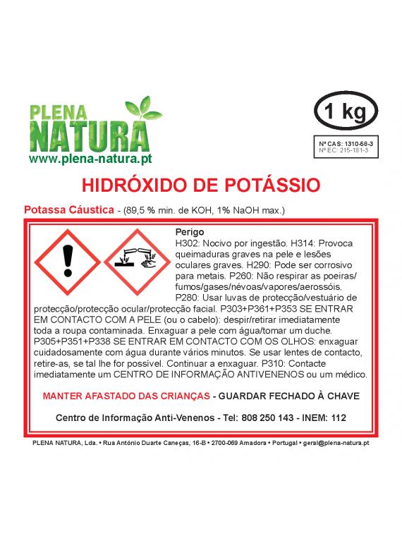 Hidróxido de Potássio (K OH - 89,5%) - em palhetas