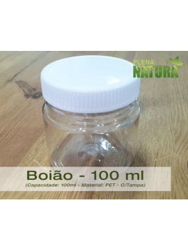 Boião - PET - 100 ml (c/tampa)