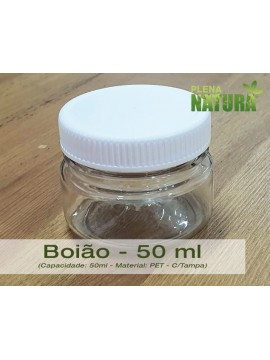 Boião - PET - 50 ml (c/tampa)