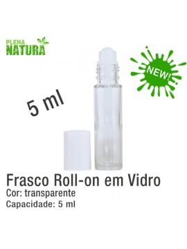 Frasco Roll-on em Vidro - 5ml