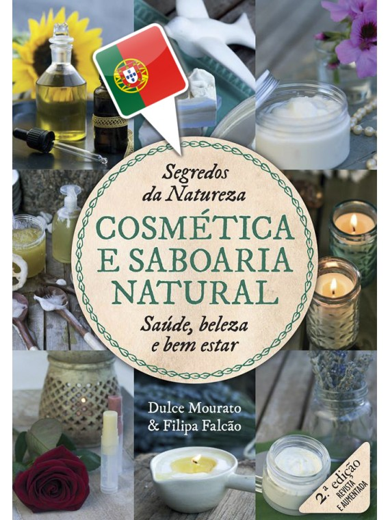 """Livro """"Cosmética & Saboaria Natural"""" - em Português"""